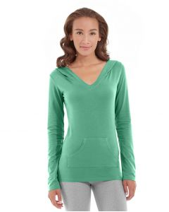 Eos V-Neck Hoodie-S-Green
