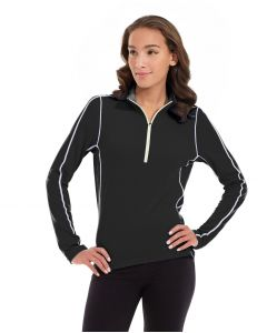 Olivia 1/4 Zip Light Jacket-XL-Black