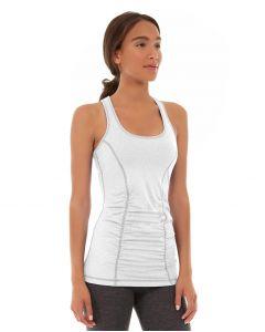 Leah Yoga Top-S-White